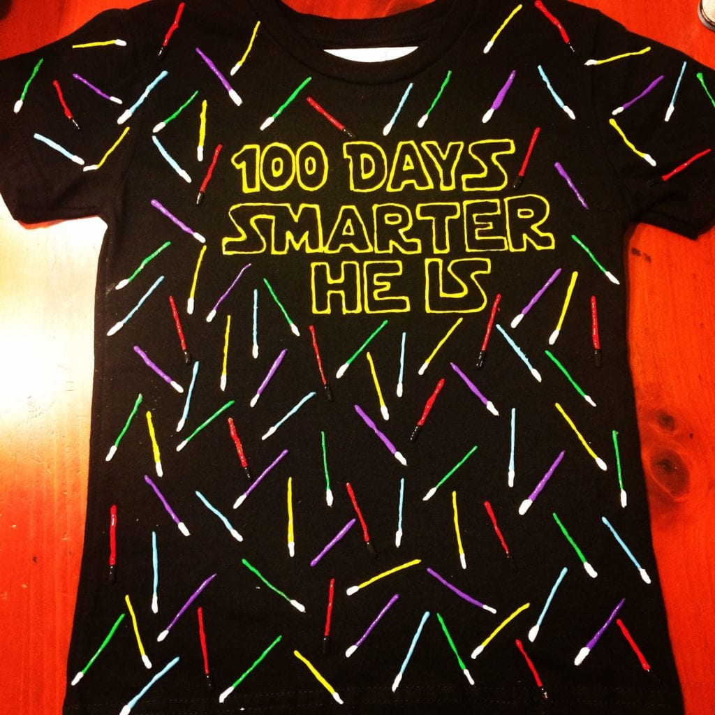 100 Days Smarter He Is - Star Wars Themed 100 Days of School shirt