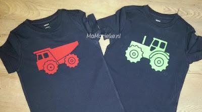 flexfolie MaMarieke traktor en kiepwagen