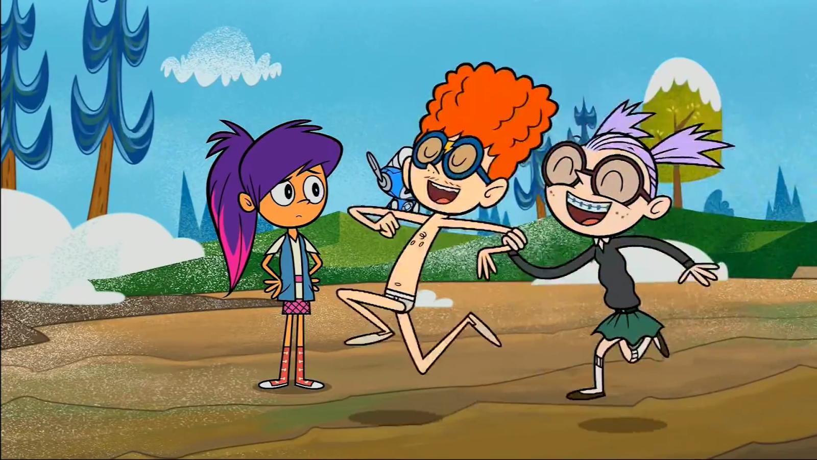 Cartoon Shirtless Boys: Dan in his underwear 2
