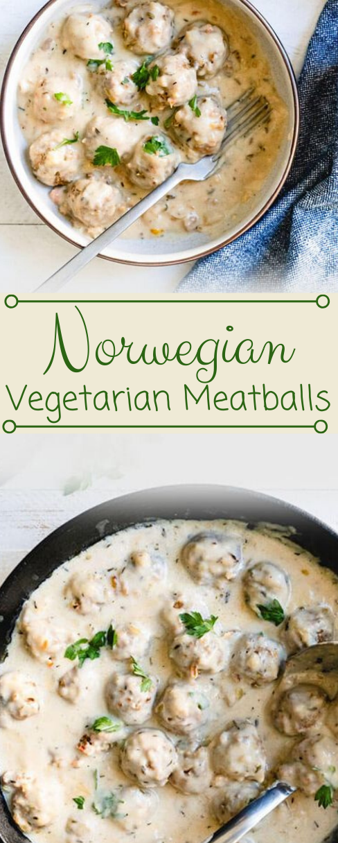 Vegetarian Meatballs & Gravy #vegetarian #meatballs #easy #recipes #healthy