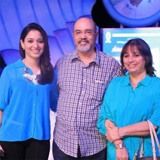 Tamannaah Bhatia With Her Father and Mother