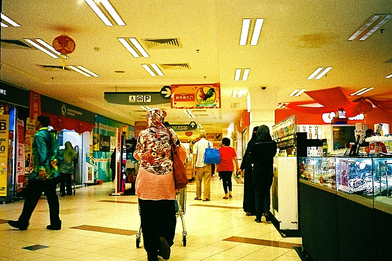 In the Mall, Olympus XA1 01