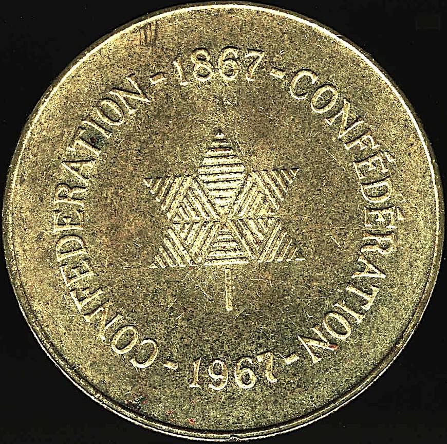 1967 centennial medalion Canada, a color photograph