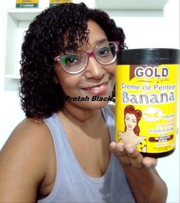 Creme com banana e babosa Gold Louise