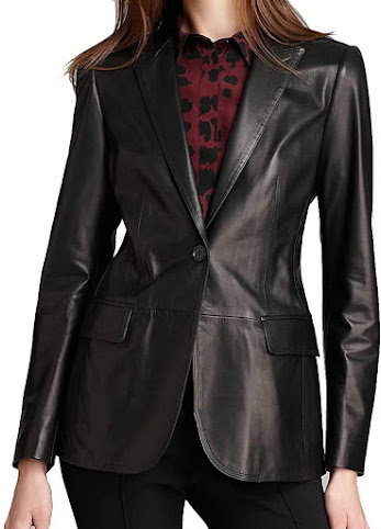 100% Leather Blazers Jackets For Women