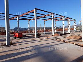 Ignifugado de estructuras de naves en Madrid