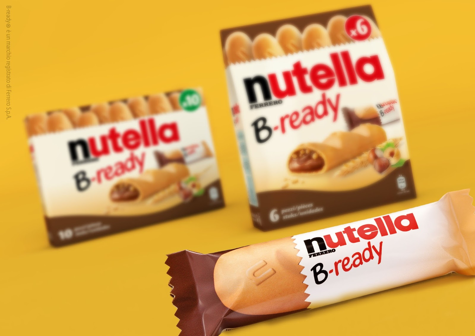 Nutella B-Ready on Packaging of the World - Creative