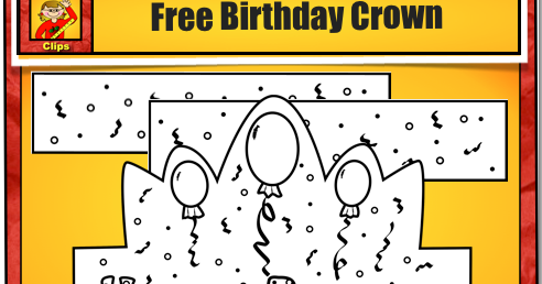 Classroom freebies free birthday printable for Happy birthday crown template