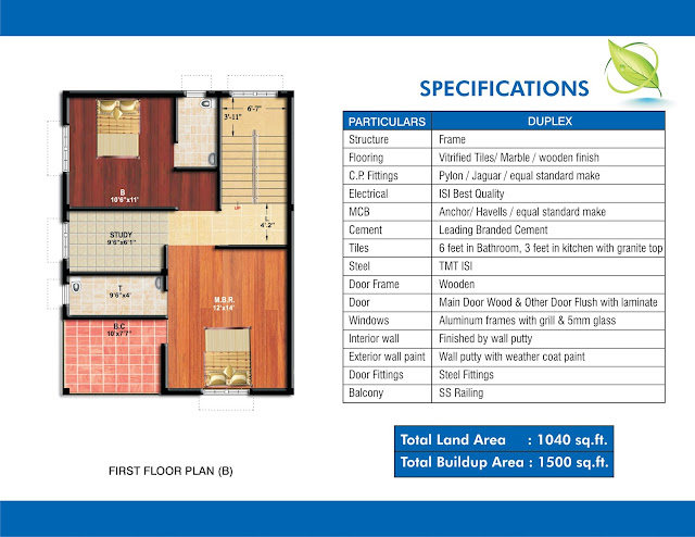 structure plan of ganpati dham, anika housing 3 bhk duplex