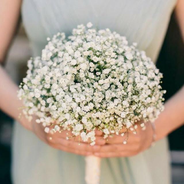 gipsówka bukiet ślubny