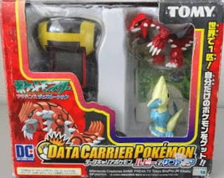 Groudon & Manectric Tomy Data Carrier Pokemon Figure Set