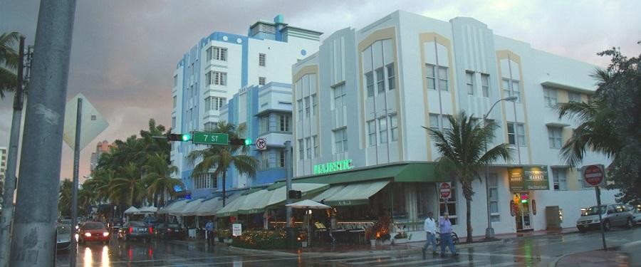 Art Déco en las calles de Miami Beach