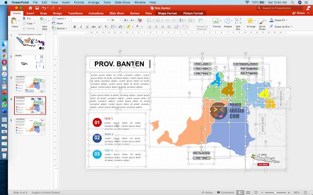 peta banten powerpoint
