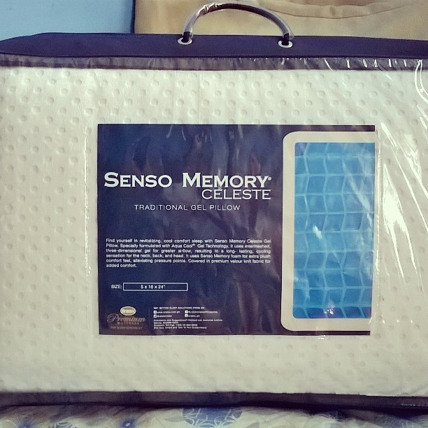 senso memory celeste gel pillow, uratex philippines, pillow, neck pain, headache