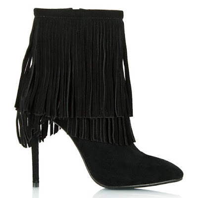 c64285bf0be96 Daniel Positive Black Suede Fringed Boots (10% extra off with SALE10)  Daniel also have these more sensible ones and the fringe is detachable!!