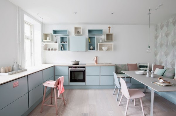 My Scandinavian Home: A Danish Kitchen In Pretty Pastels