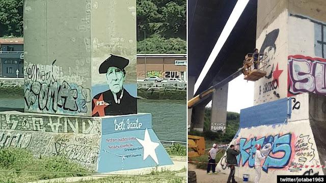 Recuperación del mural dedicado a Periko Solabarría