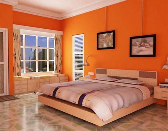 Dormitorio naranja dormitorios colores y estilos for Dormitorio naranja