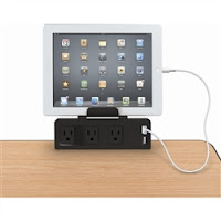 Clamp On Outlet and USB Charger for Desks