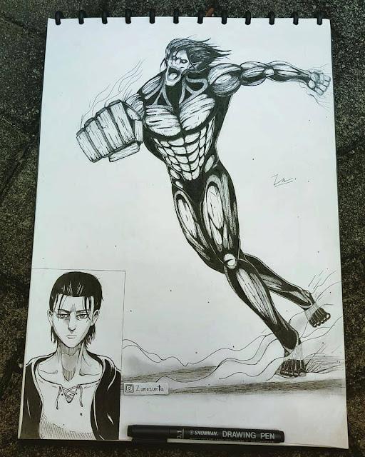 Eren Yeager - Attack Of Titan - FanArt - BlogFanArt