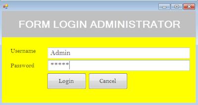 Membuat Desain Form Login Admin Pada VB Net Menggunakan MySQL