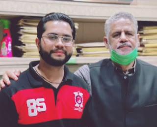 Faizan Munir Khan with Arshad Baggu Advocate in Sialkot