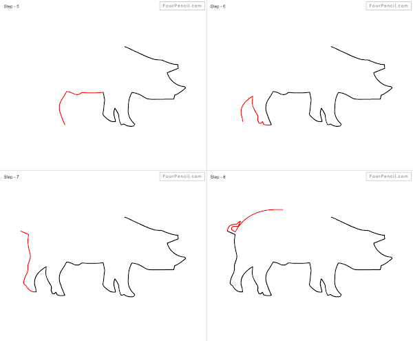 Fpencil: How to draw Pig for kids step by step   600 x 495 png 20kB