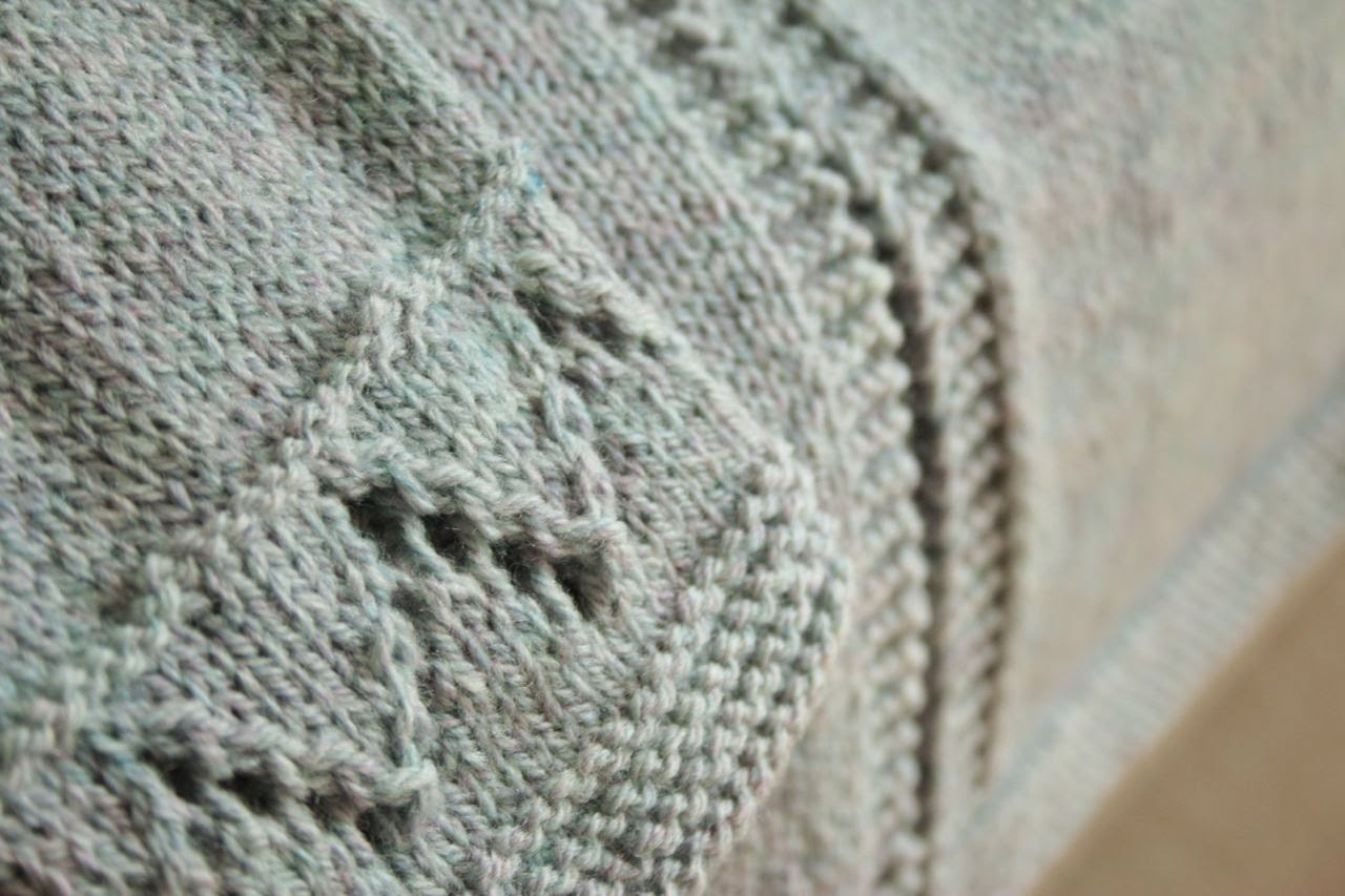 Cherry Heart: Granny's favourite cardigan front detail