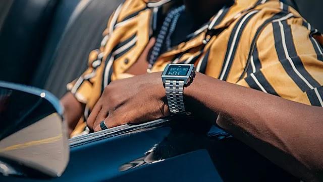 Adidas LED Watch   Black   Red   Time Setup