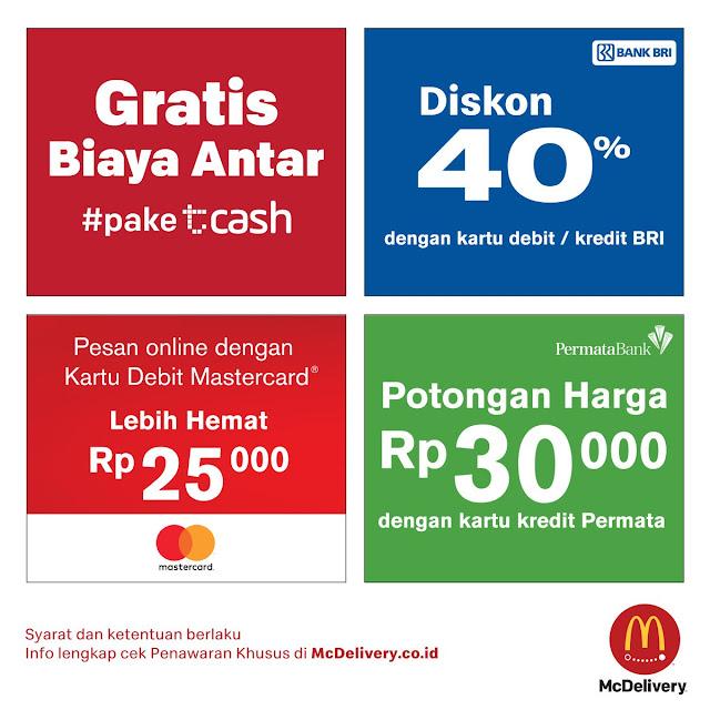 #McDonalds - #Promo Diskon 40% & Potongan 30Ribu & Beragam Promo Pakai McDelivery