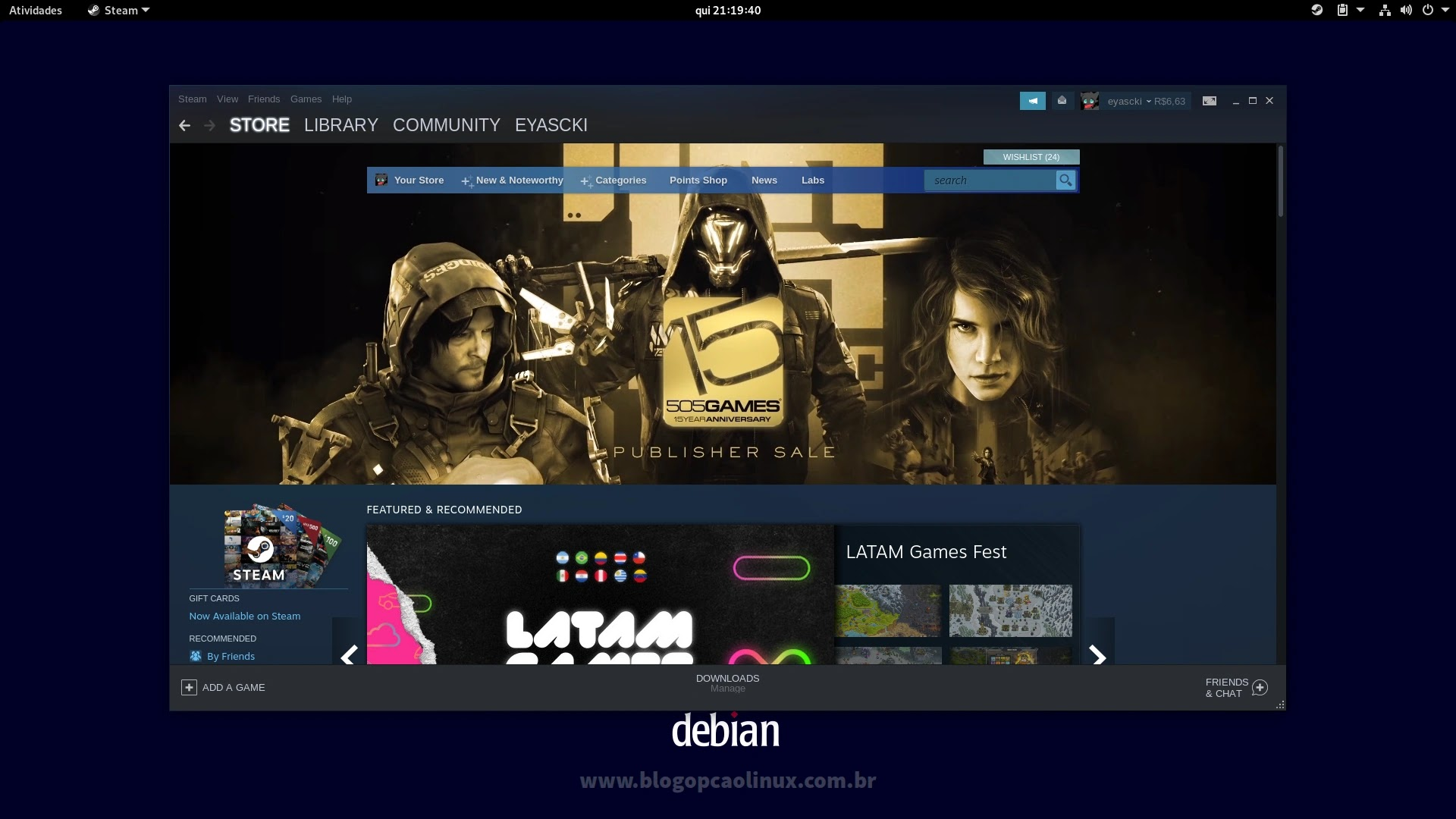 Cliente Steam executando no Debian 11 Bullseye