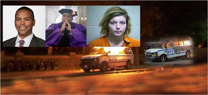 Abogados y una mujer enfrentan cadena perpetua por incendiar  con bombas molotov vehículos del NYPD en protestas por Floyd