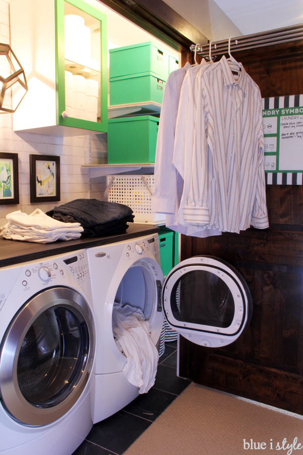 Laundry Closet Hanging Space