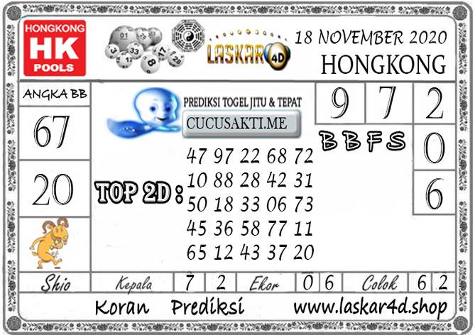 Prediksi Togel HONGKONG LASKAR4D 18 NOVEMBER 2020