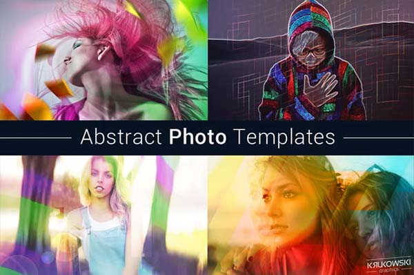 Abstract Photo Templates