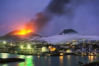 La erupción volcánica de Eldfell en enero de 1973