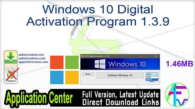 Windows 10 Digital Activation Program 1.3.9