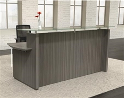 Coastal Gray Reception Desk