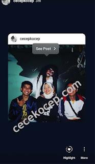 hasil repost feed ke sotry instagram