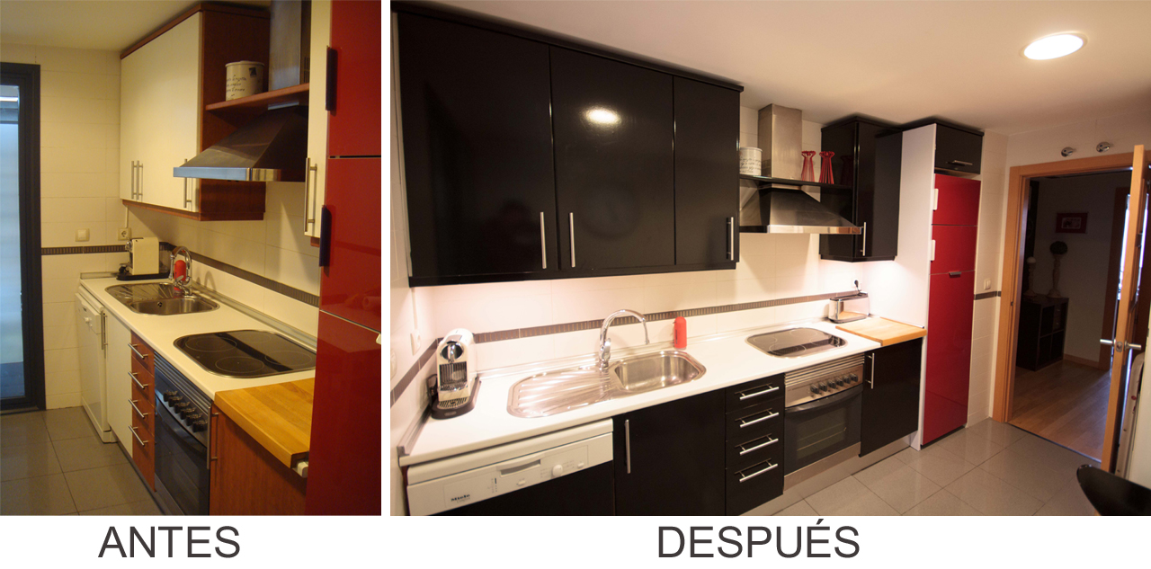 Antes y Despus La cocina de Amaya  x4duroscom