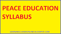 peace education b.ed second year syllabus