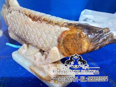 Patung Ikan Onix, Patung Ikan Arwana Onyx Harga Murah, Pengrajin Patung Marmer
