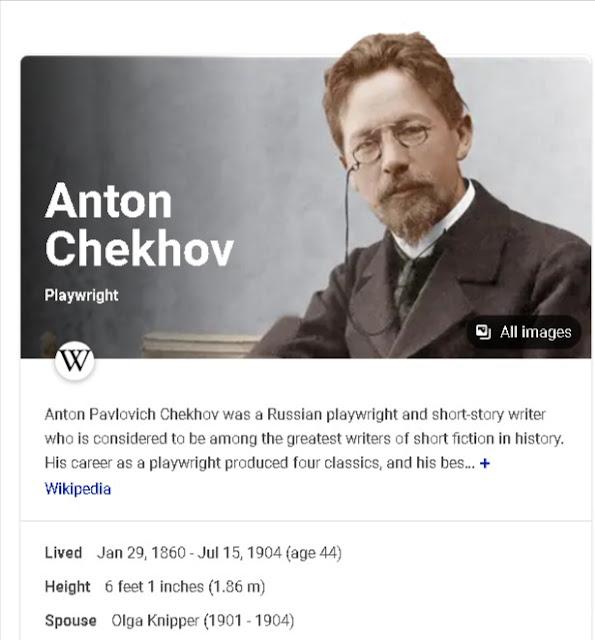 Anton Checkov Bio