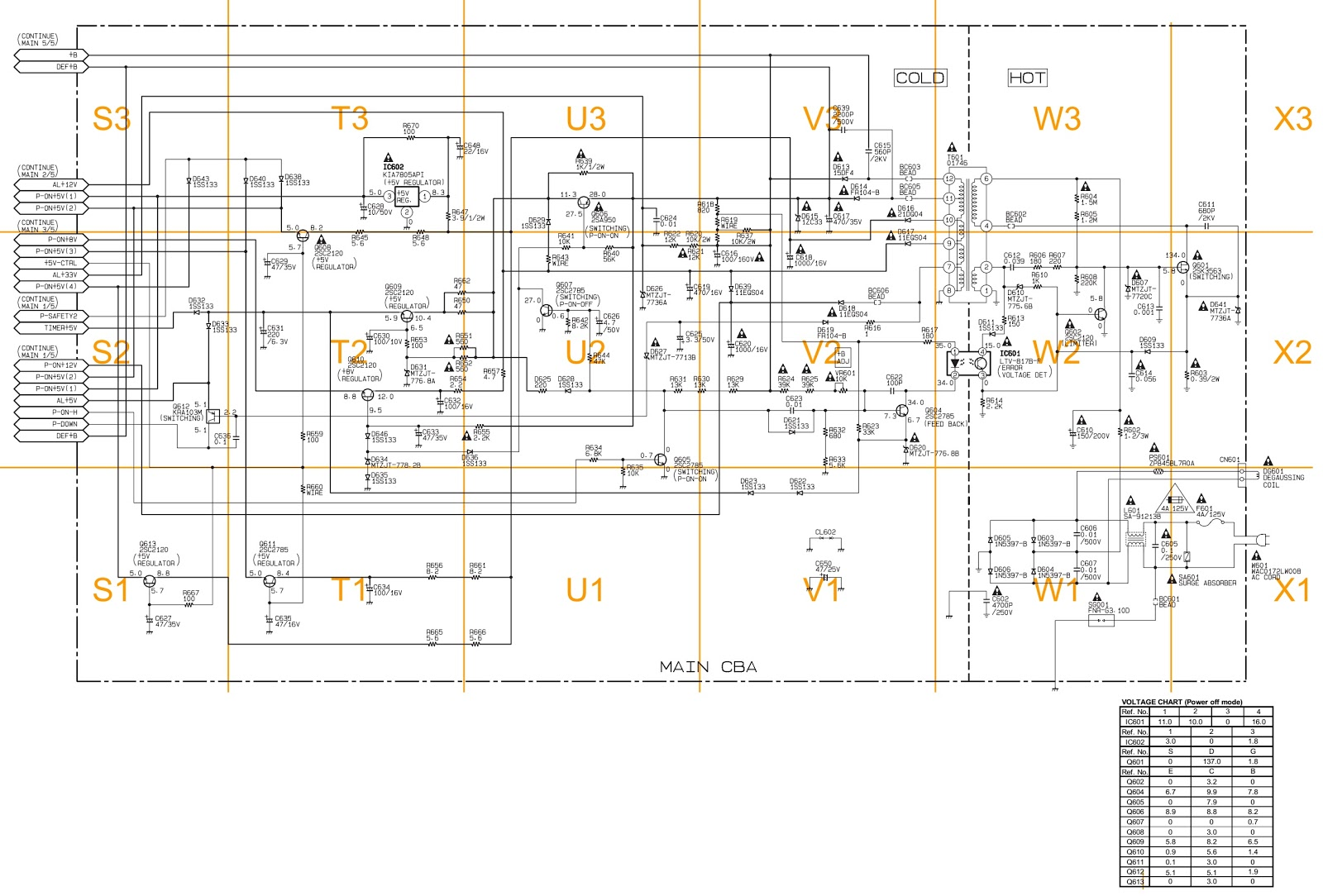 Sylvania Ewc1304 Smps Circuit Diagram Troubleshooting Repair Proceeding