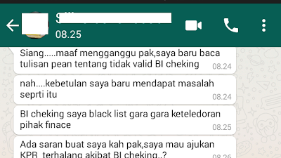 BI Checking Saya Black List Gara-gara Keteledoran Pihak Finance