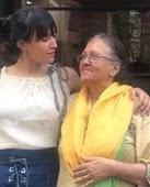 Dipannita Sharma with her mother