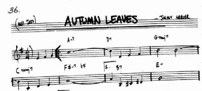 First 8 Bars of Autumn Leaves