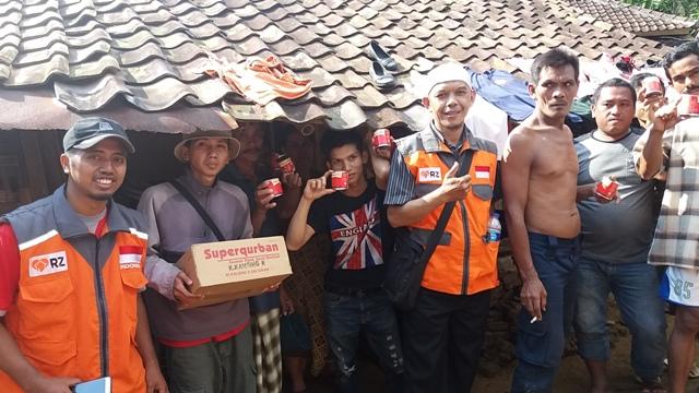 Reportse Aksi RZ Cilegon di kampung Garung Desa Suka Mandi Anyer Serang