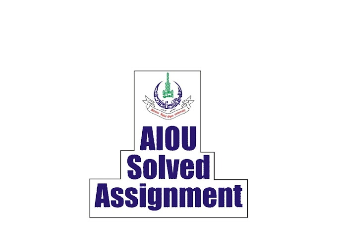 AIOU Solved Assignment 8612 Autumn 2019 Assignment No 2