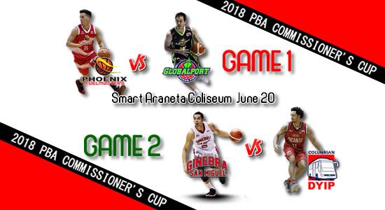 List of PBA Games: June 20 at Smart Araneta Coliseum 2018 PBA Commissioner's Cup